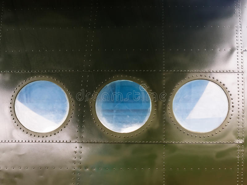 Vigias em aviões velhos fotografia de stock royalty free