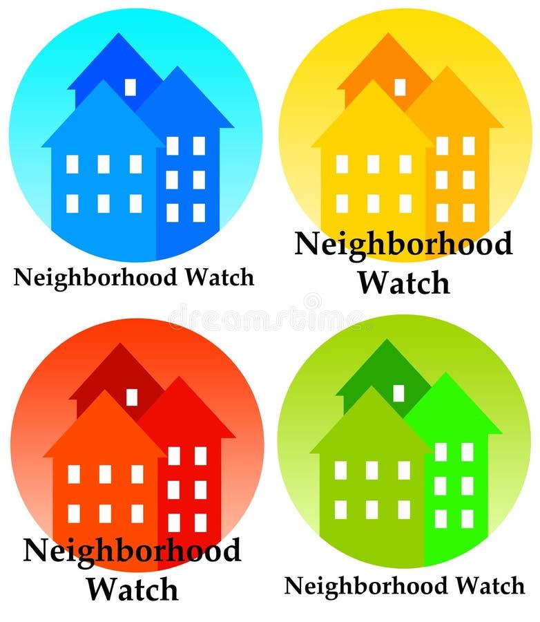 Vigilância de bairro ilustração royalty free