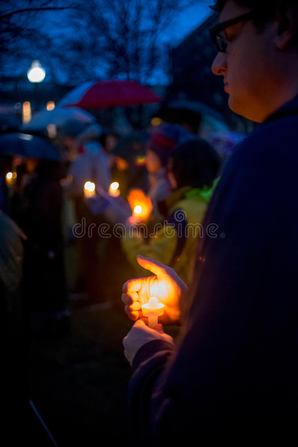 Free Vigil For Newtown Shooting Victims. Royalty Free Stock Photo - 30489905