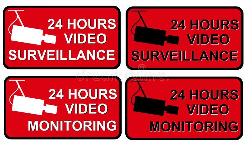 Vigilancia video ilustración del vector