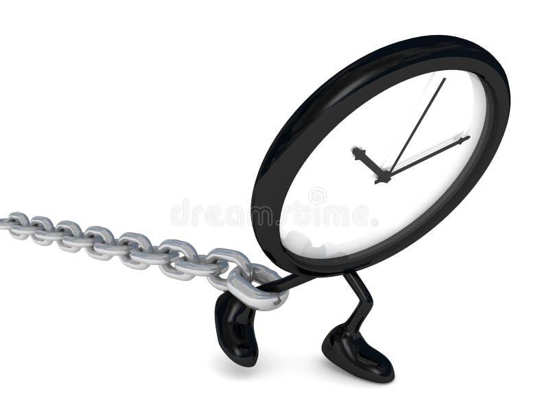 Vigilanza con la catena illustrazione di stock