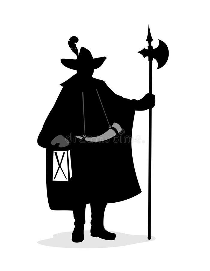 Vigilanza di notte royalty illustrazione gratis