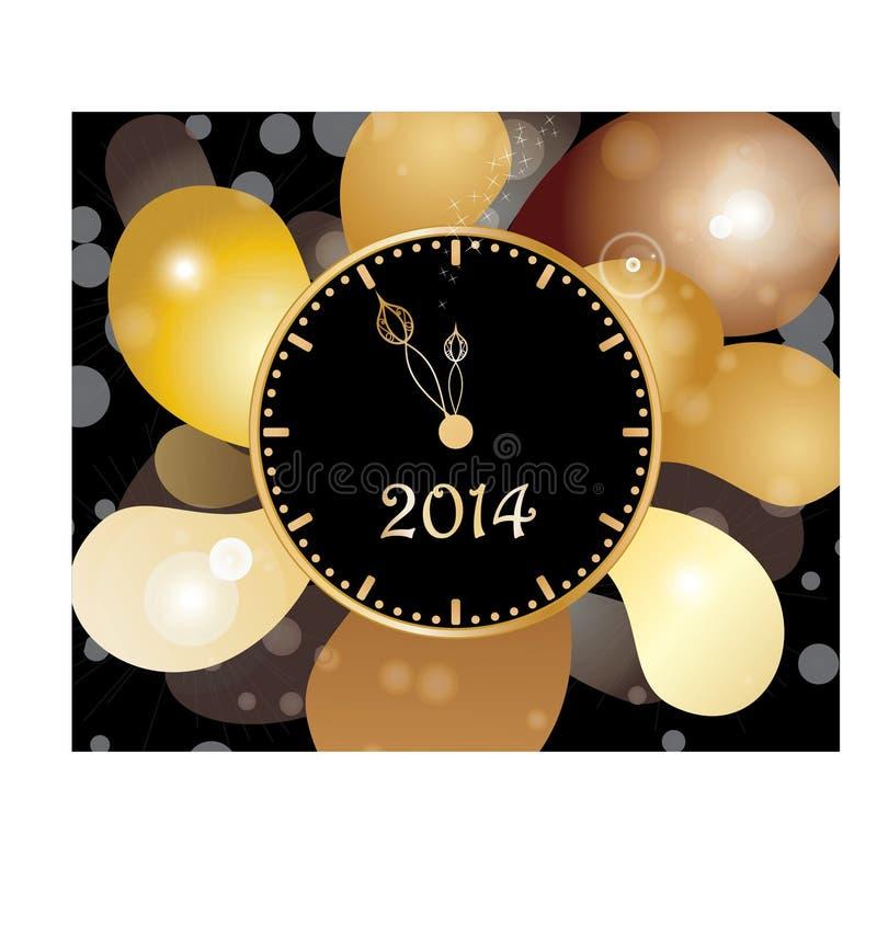 Vigilanza di nuovo anno illustrazione vettoriale