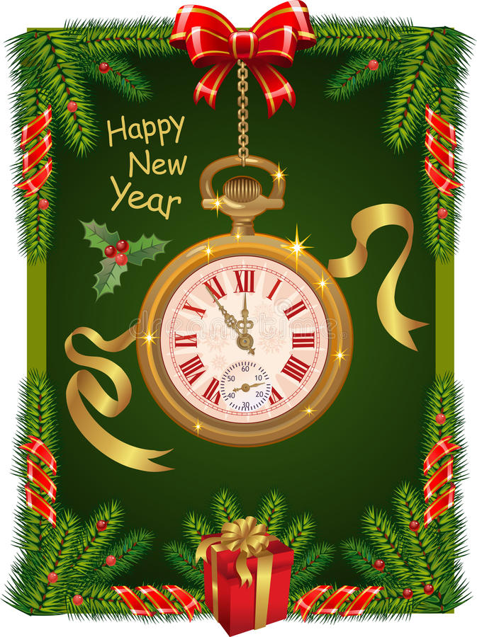 Vigilanza di nuovo anno royalty illustrazione gratis