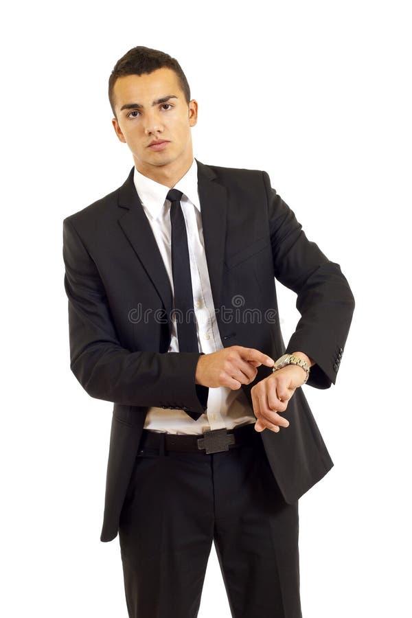 Vigilanza di rappresentazione dell'uomo d'affari immagini stock