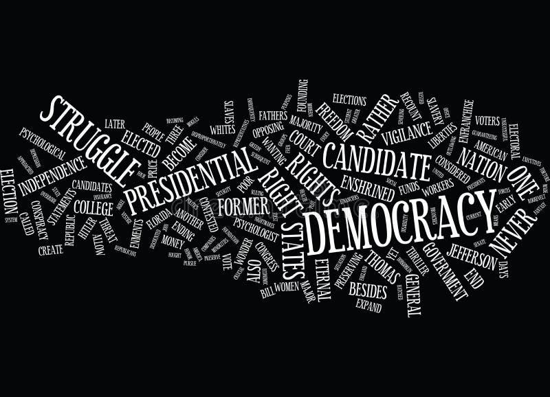 Vigilanza eterna per proteggere concetto della nuvola di parola del fondo del testo del Wc di democrazia royalty illustrazione gratis