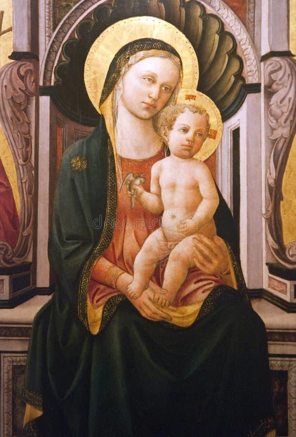 Vigin Mary mit Schätzchen Jesus lizenzfreie stockfotos