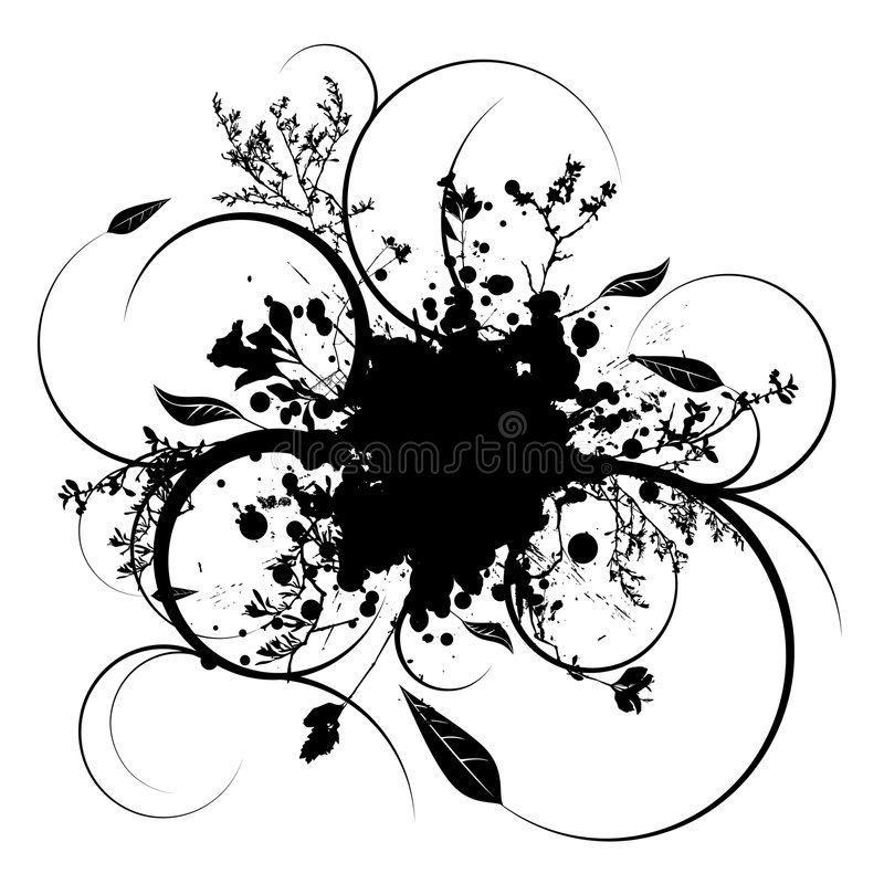 Vigne de Splat illustration stock