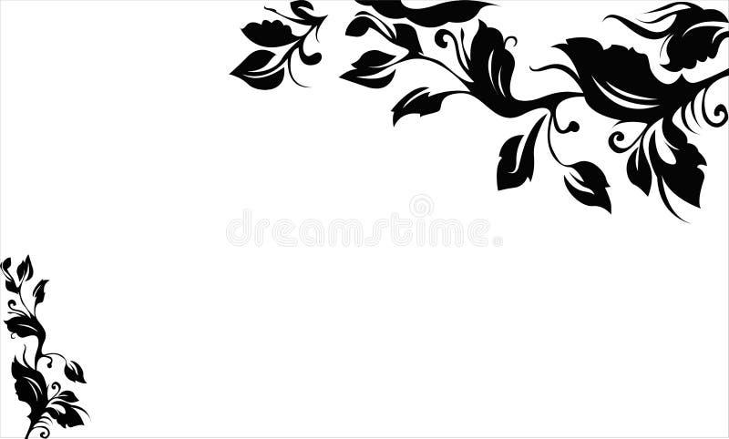 Vigne noire illustration de vecteur