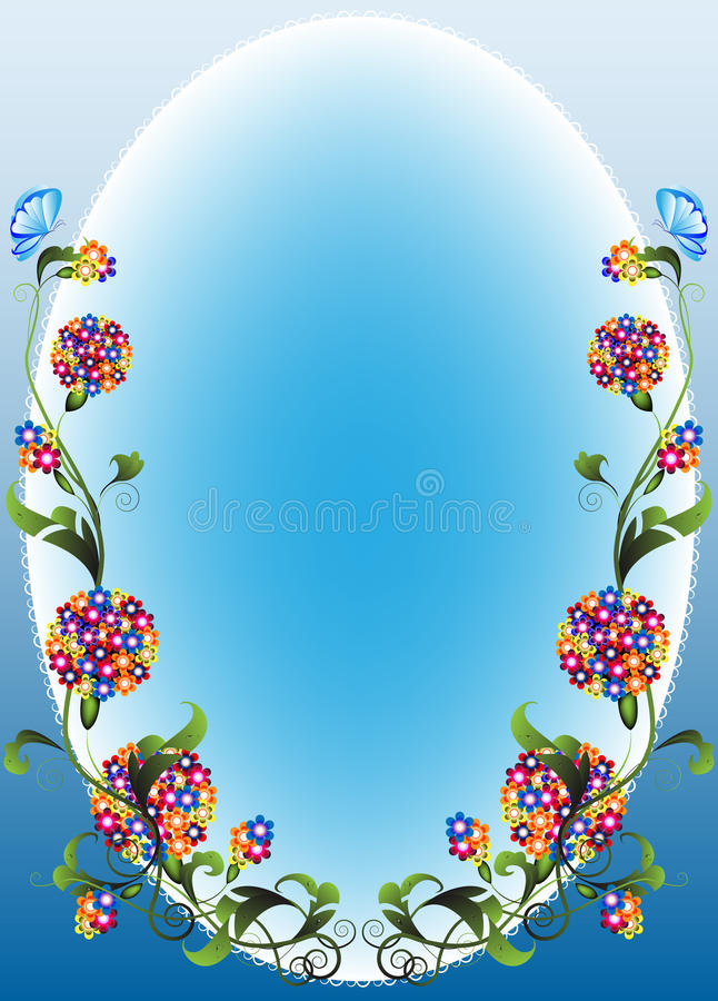 Vignet flower1 royalty-vrije illustratie