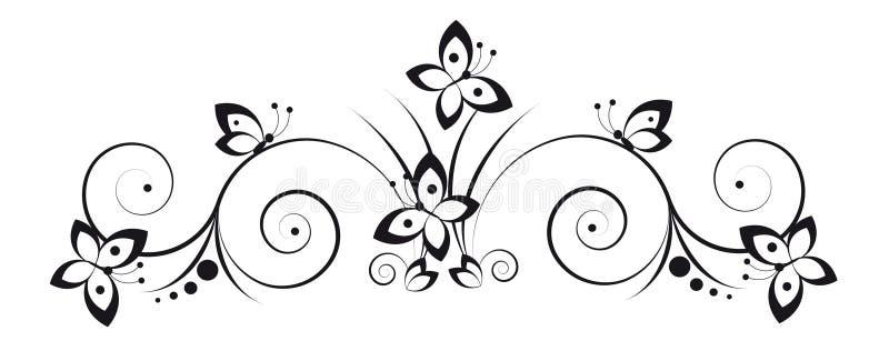 Vignet met vlinders royalty-vrije illustratie