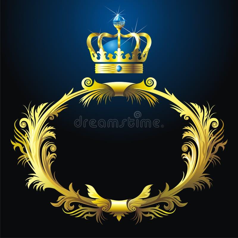 Vignette and crown royalty free illustration