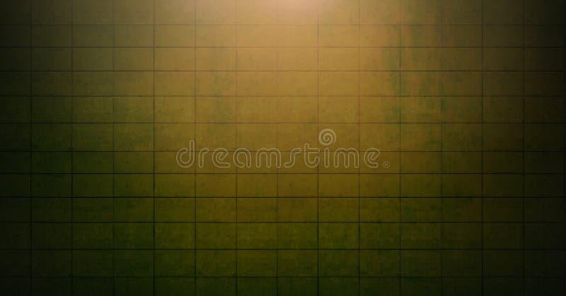 Vignette et lumière sur le fond orange de mur de briques images libres de droits