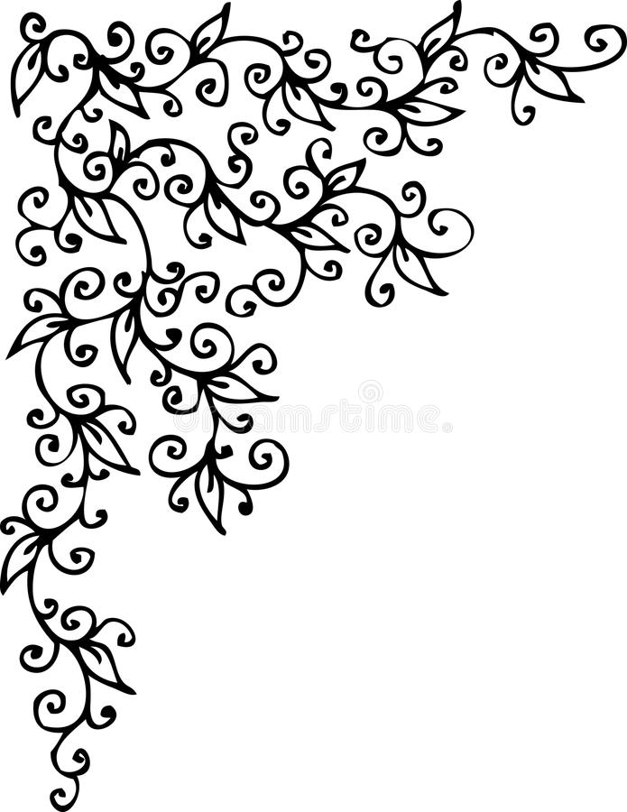 Vignette florale CLXV illustration stock