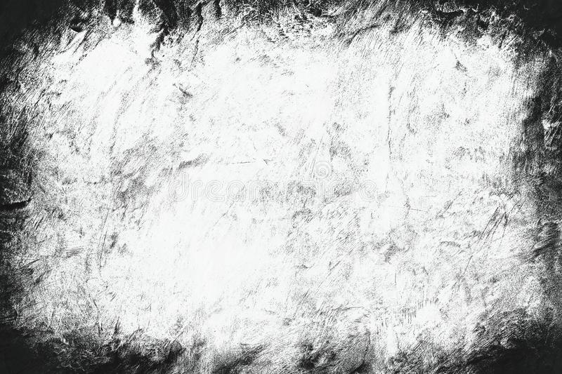 Vignette old grunge texture border frame white gray background for printing brochures or papers blackdrop or overlay stock image