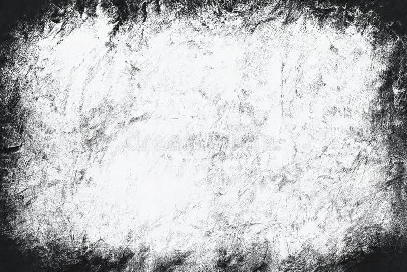 Vignette old grunge texture border frame white gray background for printing brochures or papers blackdrop or overlay. Design stock image