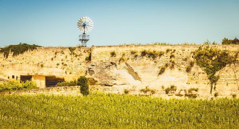 Vignoble de Saint Emilion, France, près de Bordeaux à la fin de s photographie stock
