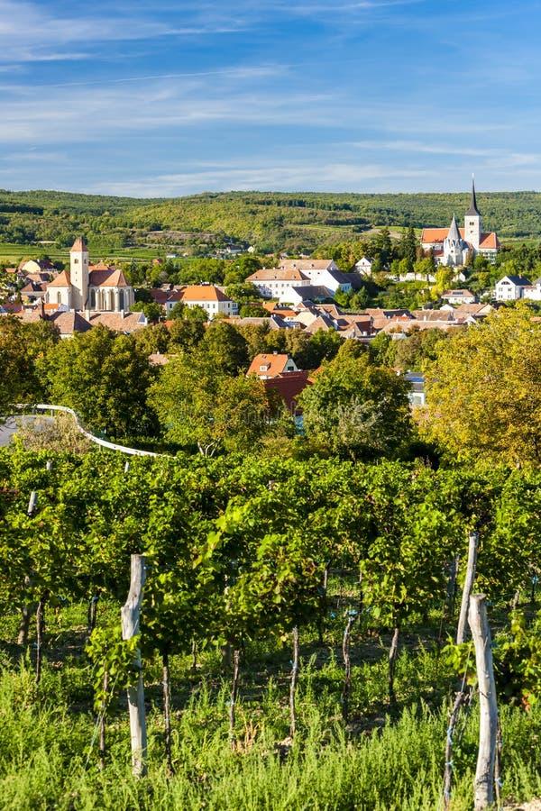 vignoble et Pulkau, Autriche photo stock
