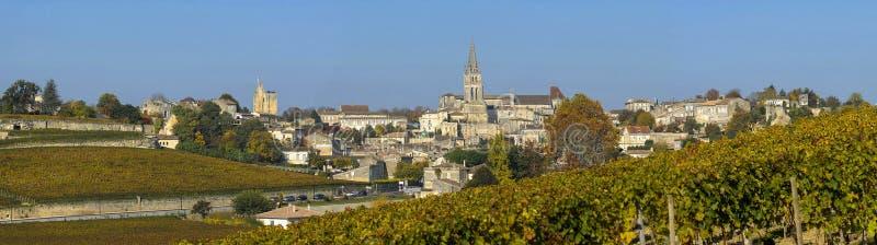 Vignobles de Saint Emilion, Bordeaux, France image libre de droits