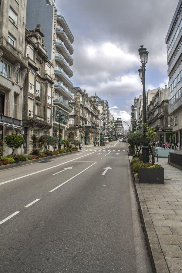Vigo city royalty free stock image