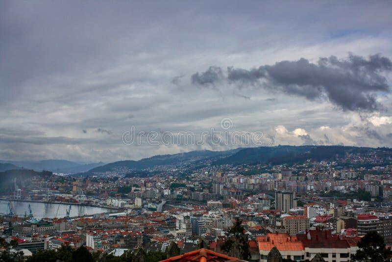 Vigo, Galiza, Spain ?rea portu?ria de Vigo, regi?o de Galiza, Spain imagem de stock