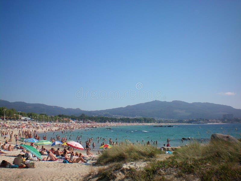 Vigo plaża Spain obrazy royalty free