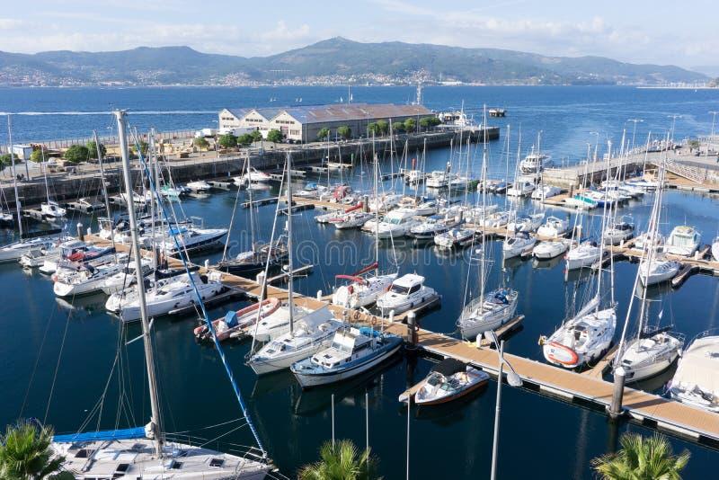 Vigo Spanien hamn arkivfoton