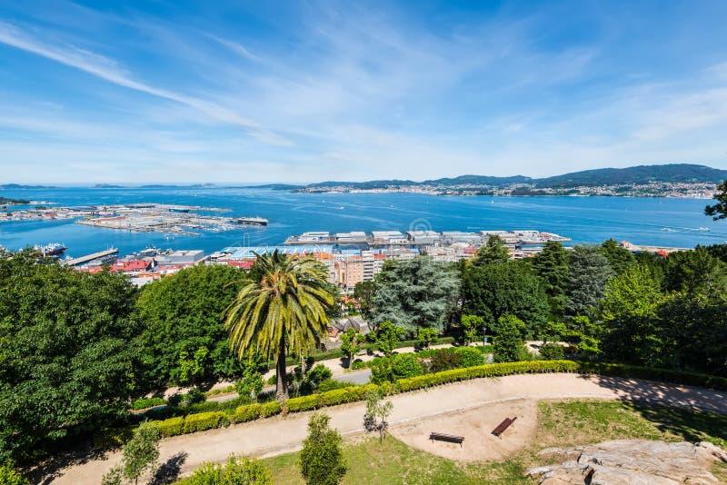 Vigo-Stadtbild in Spanien lizenzfreie stockfotografie