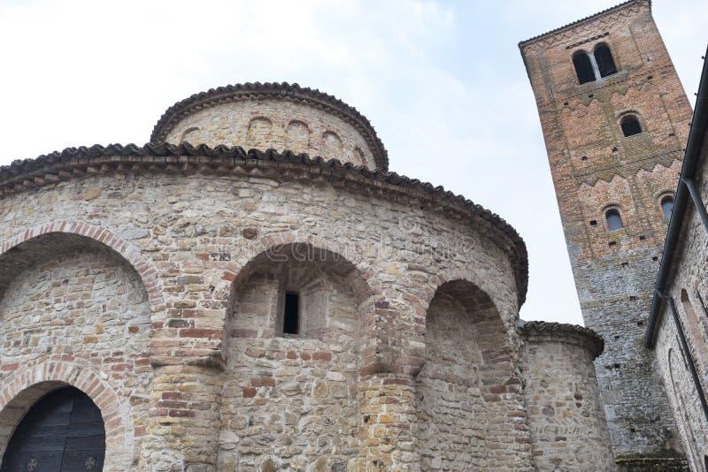 Vigolo Marchese Piacenza, Italië: middeleeuwse kerk royalty-vrije stock afbeeldingen
