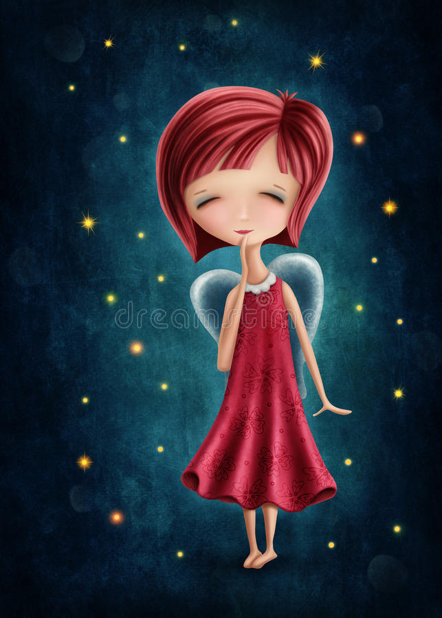 Vigro girl stock illustration