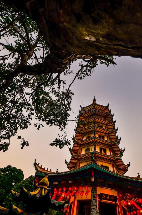 Vihara Buddhagaya in Semarang ist Vihara, das in Jawa Tengah am höchsten ist lizenzfreie stockfotos