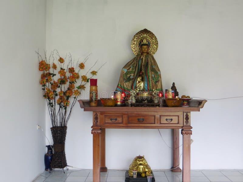 Vihara Buddhagaya Watugong in Semarang royalty-vrije stock fotografie