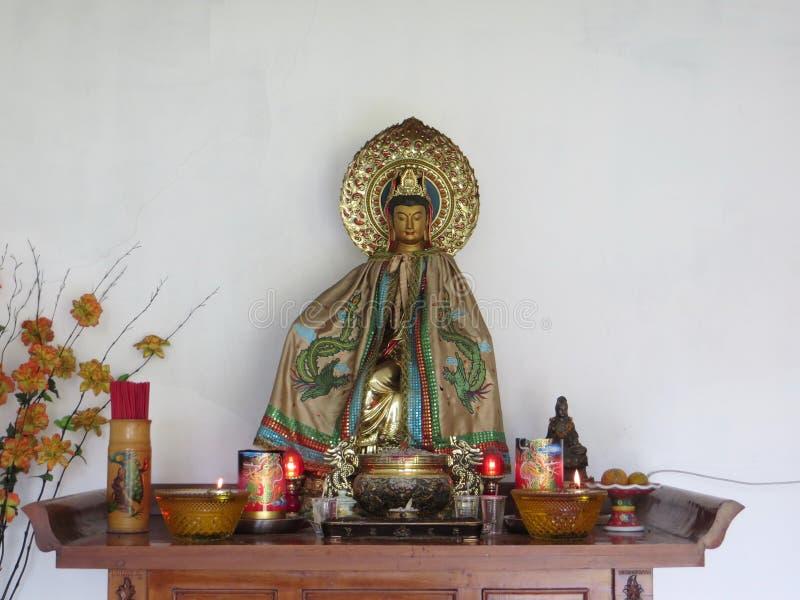 Vihara Buddhagaya Watugong in Semarang royalty-vrije stock afbeeldingen