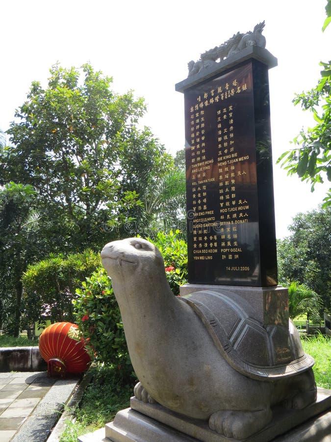 Vihara Buddhagaya Watugong in Semarang royalty-vrije stock afbeelding