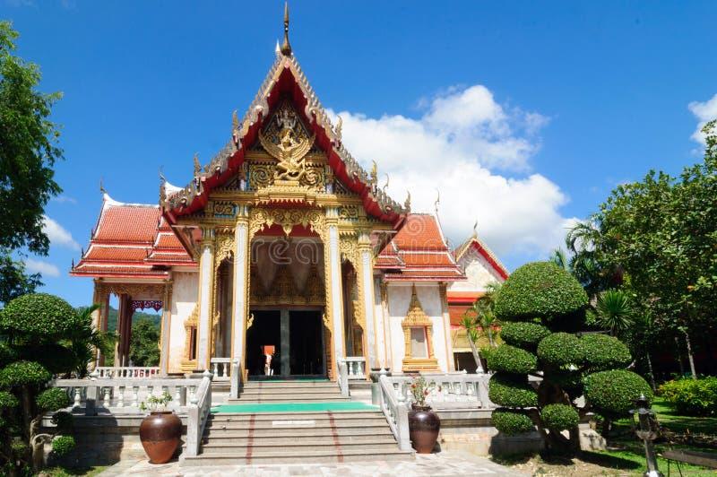 Vihara cruciforme do templo budista Wat Chalong complexo imagem de stock
