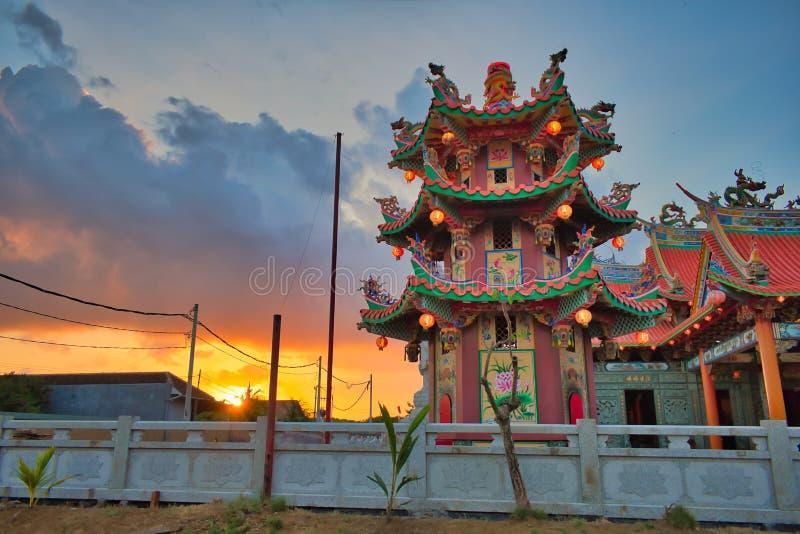 Vihara Satya Dharma är en modern kinesisk tempel på Benoa port, Bali Det är en tempel av 'Satya Dharma 'eller 'Shenism ', den syd royaltyfri bild