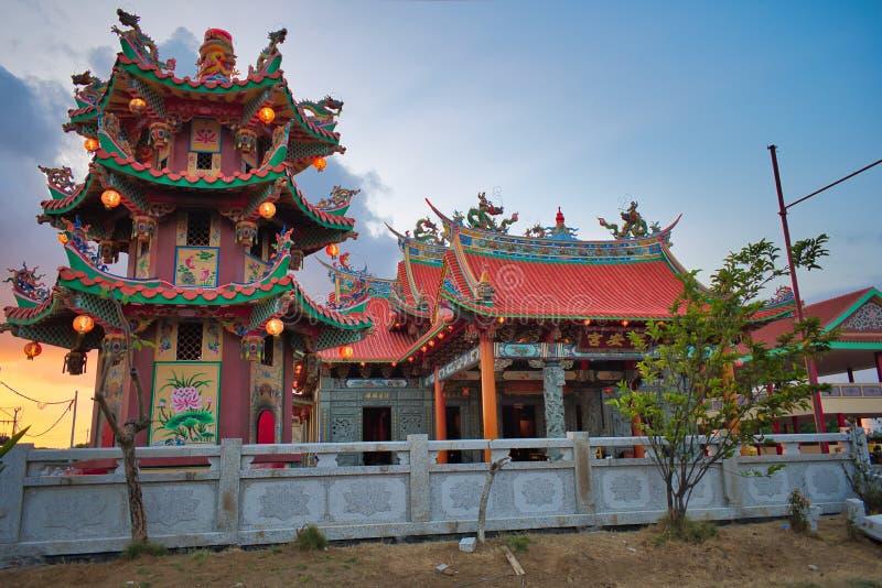 Vihara Satya Dharma é um templo chinês moderno no porto de Benoa, Bali É um templo 'de Satya Dharma 'ou 'de Shenism ', o asiático fotos de stock royalty free