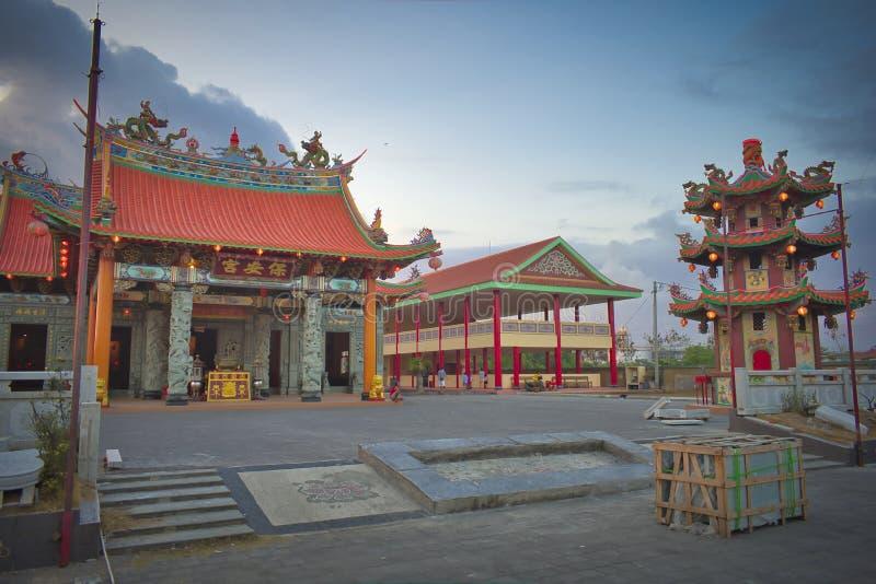 Vihara Satya Dharma is a modern Chinese temple at Benoa Port, Bali. It is a temple of `Satya Dharma` or `Shenism`, Southeast Asian stock photography