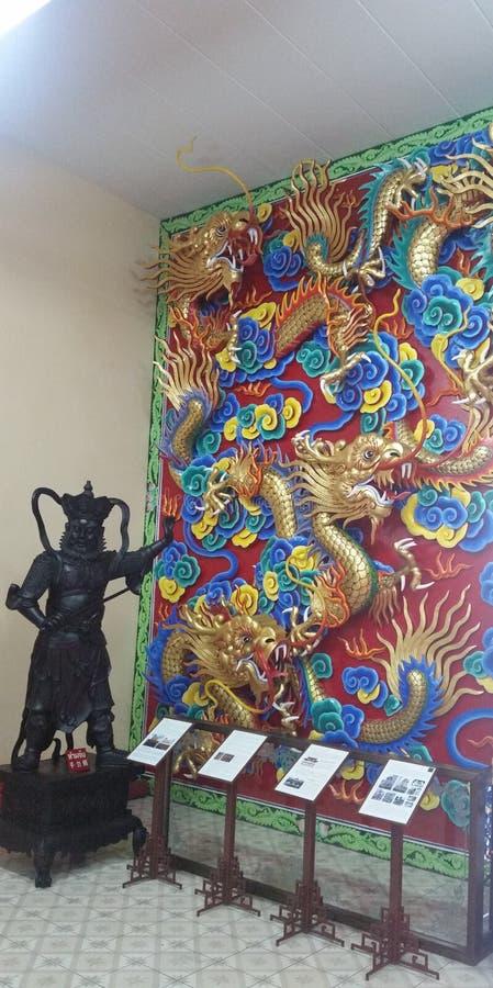 Viharn Sien Temple & museu Pattaya (Thailandia) fotografia de stock