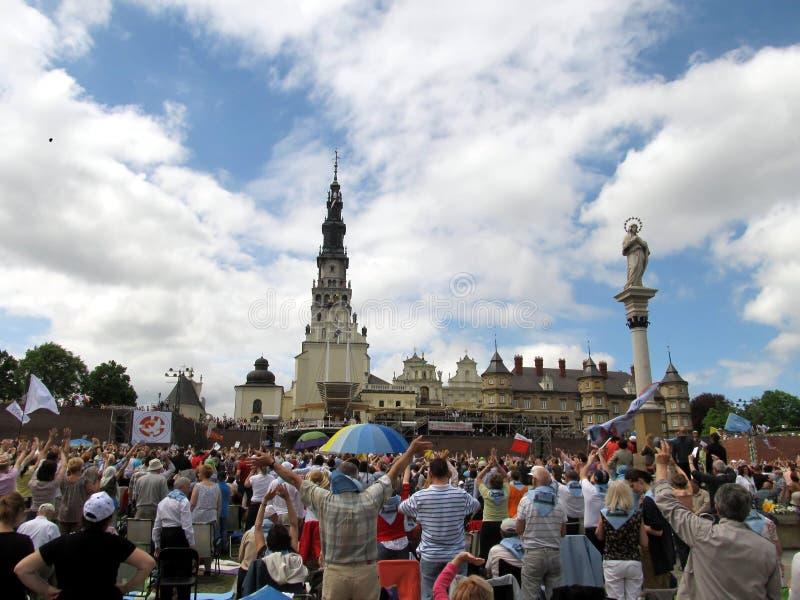 VII le congrès du renouvellement charismatique catholique Czestochowa, PO image stock