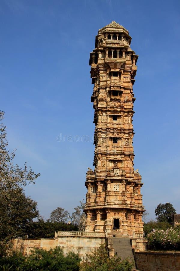Vijay Sthambh на Chittorgarh стоковая фотография rf