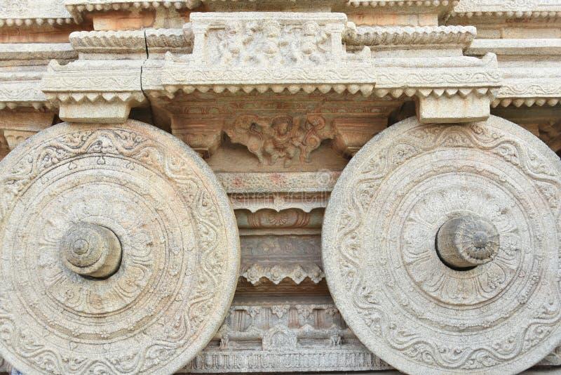 Vijay Vittala tempeltriumfvagn, Hampi, Karnataka, Indien arkivbild