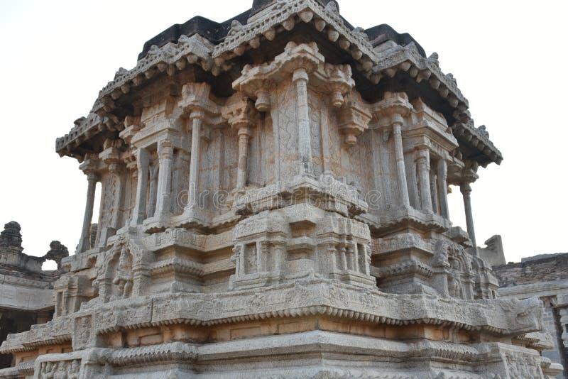 Vijay Vittala tempeltriumfvagn, Hampi, Karnataka, Indien royaltyfri fotografi
