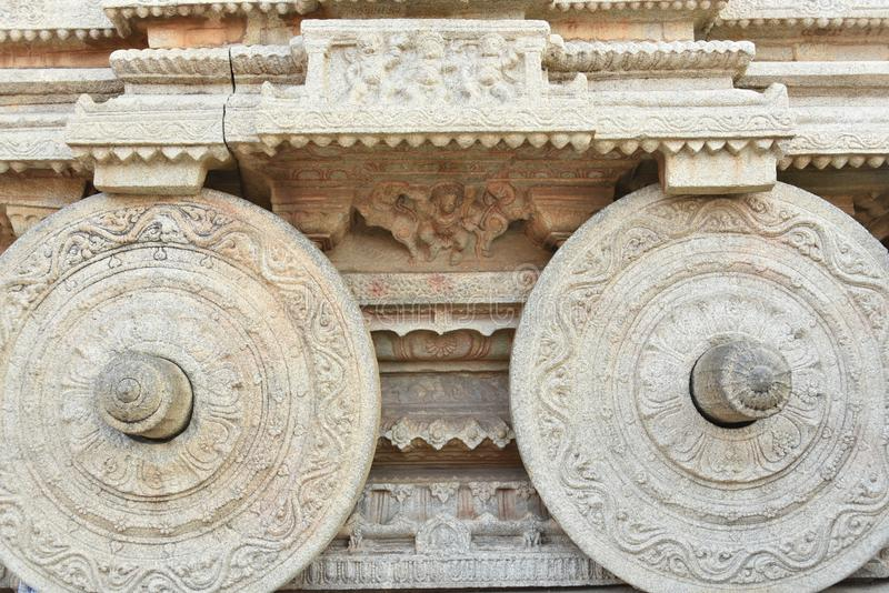 Vijay Vittala temple chariot, Hampi, Karnataka, India stock photography
