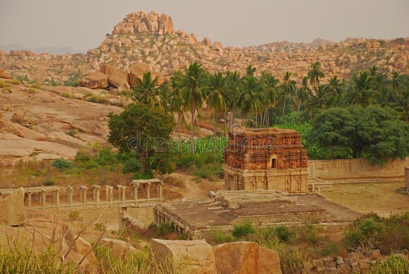 Vijayanagar, la India. Ruinas