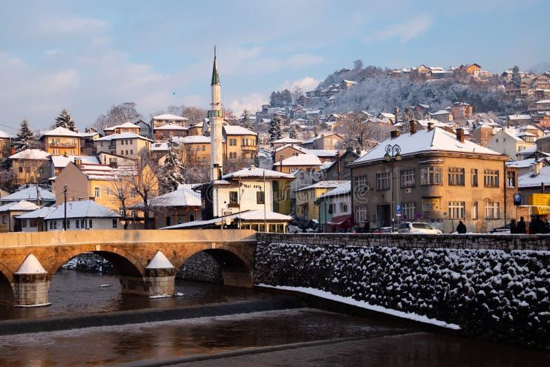 Vijecnica Bridge in Sarajevo royalty free stock photo