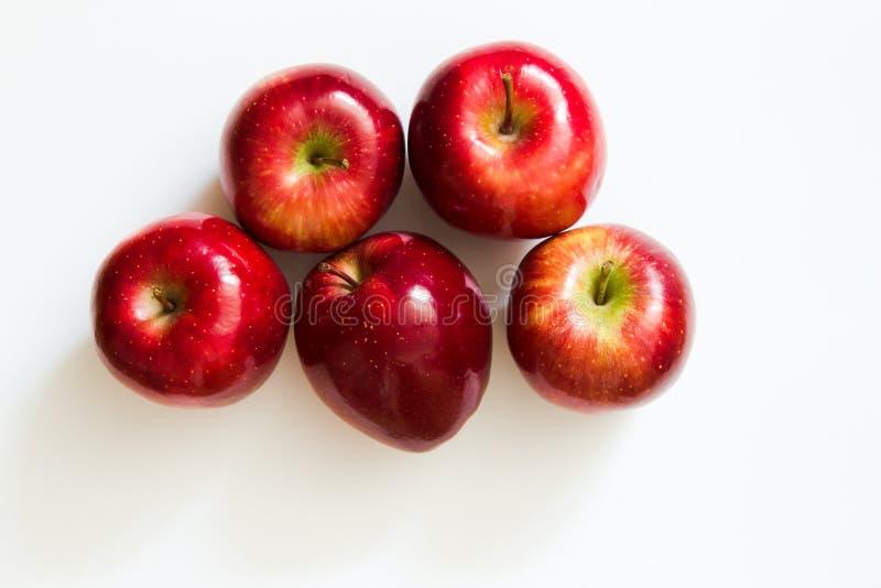 Vijf appelen royalty-vrije stock afbeelding