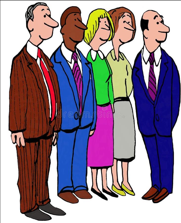 Vijf Bedrijfsmensen vector illustratie