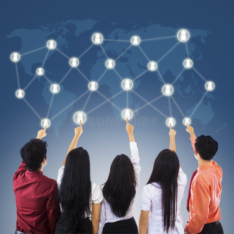 Bedrijfs netwerkverbindingen royalty-vrije stock foto