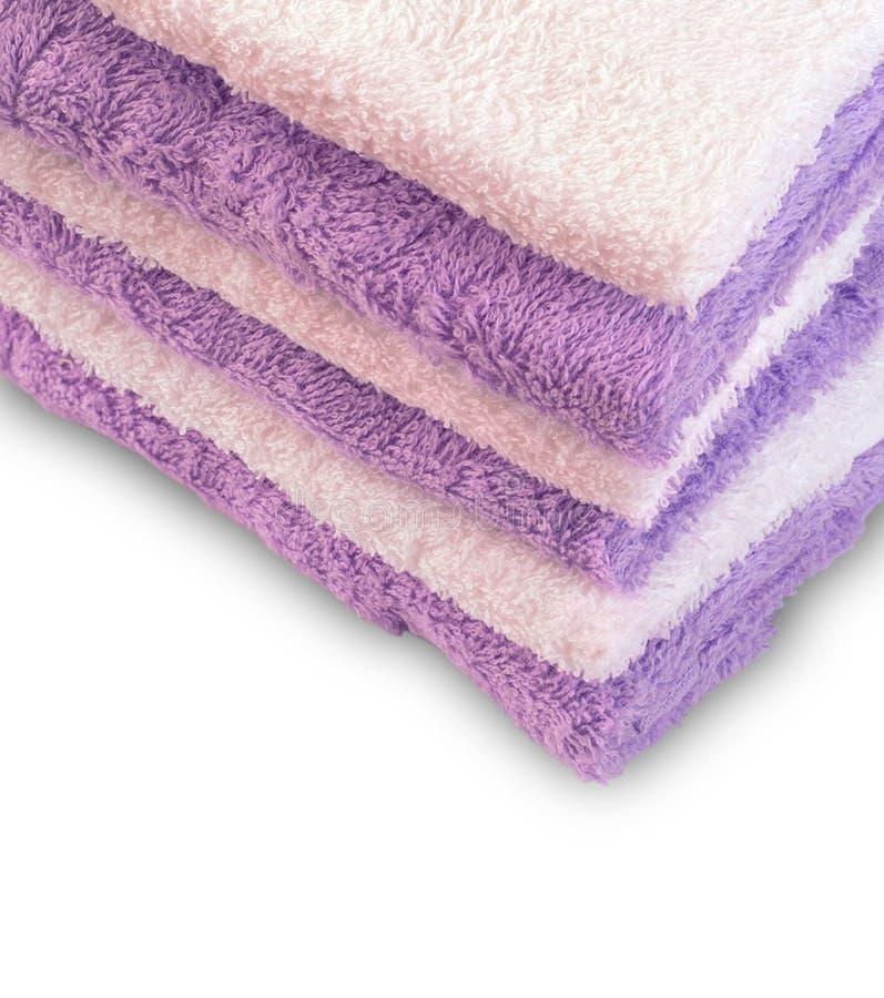 Vijf gekleurde handdoeken stock fotografie